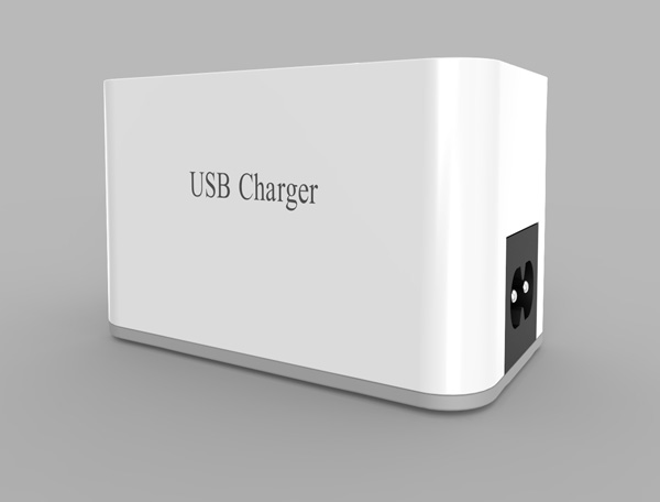 3-port USB+1 Type C charger